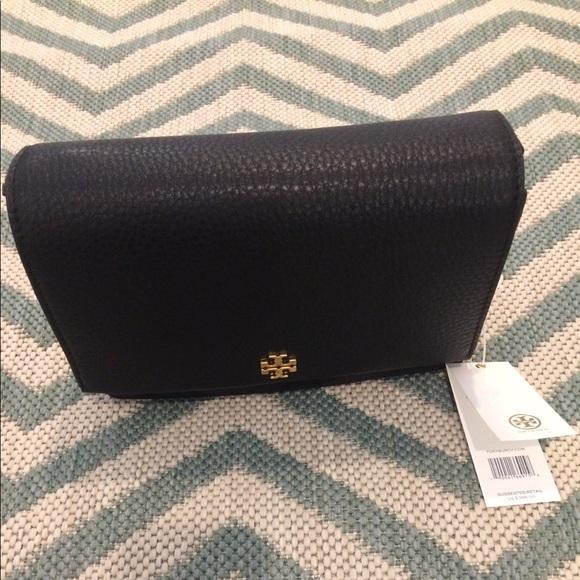 79c0f5413f5 New Tory Burch Georgia Pebble Leather Shoulder Bag